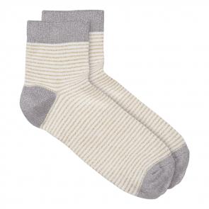 Striped lurex socks